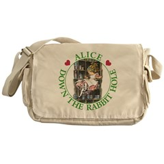 Alice Down the Rabbit Hole Messenger Bag