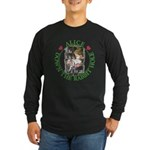 Alice Down the Rabbit Hole Long Sleeve Dark T-Shir