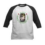 Alice Down the Rabbit Hole Kids Baseball Jersey