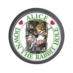Alice Down the Rabbit Hole Wall Clock