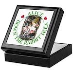 Alice Down the Rabbit Hole Keepsake Box