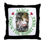 Alice Down the Rabbit Hole Throw Pillow