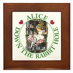 Alice Down the Rabbit Hole Framed Tile