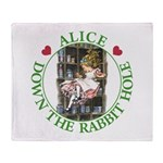 Alice Down the Rabbit Hole Throw Blanket
