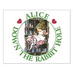Alice Down the Rabbit Hole Small Poster