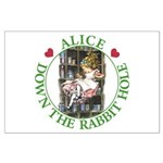 Alice Down the Rabbit Hole Large Poster