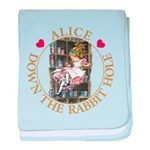 Alice Down the Rabbit Hole baby blanket
