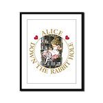 Alice Down the Rabbit Hole Framed Panel Print