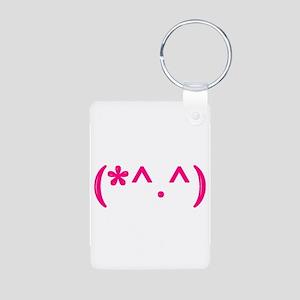 Cute emote Aluminum Photo Keychain