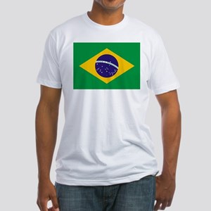 Flag of Brazil Fitted T-Shirt