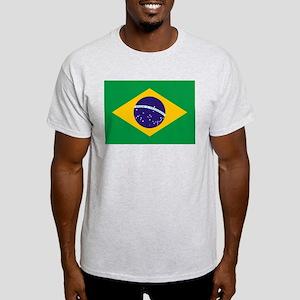 Flag of Brazil Ash Grey T-Shirt