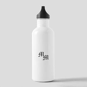 Mongram in Black Stainless Water Bottle 1.0L