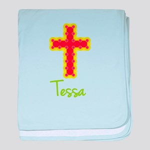 Tessa Bubble Cross baby blanket