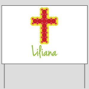 Liliana Bubble Cross Yard Sign