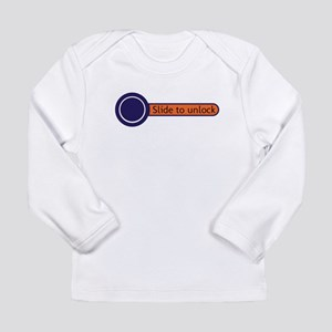 slide to unlock Long Sleeve Infant T-Shirt