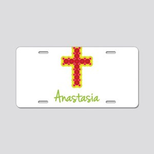 Anastasia Bubble Cross Aluminum License Plate