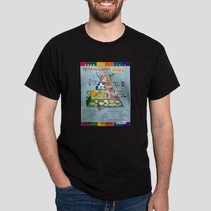 Food Guide Pyramid Black T-Shirt