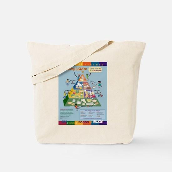 Food Guide Pyramid Tote Bag