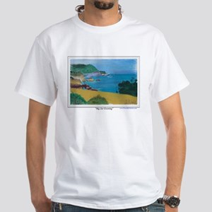 Big Sur Evening White T-Shirt