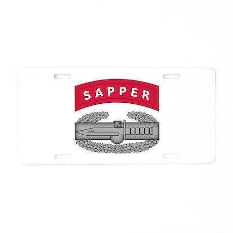 Combat Action Badge w Sapper Tab Aluminum License