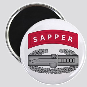 Combat Action Badge w Sapper Tab Magnet