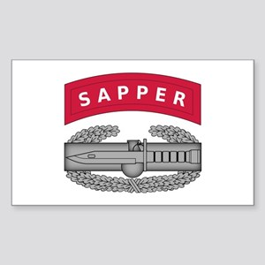 Combat Action Badge w Sapper Tab Sticker (Rectangl