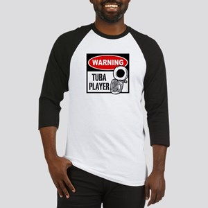 Warning Tuba Player Baseball Jersey