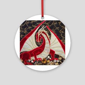 Red Dragon Guarding Treasure Ornament
