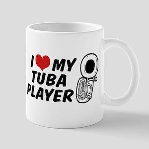 I Love My Tuba Player Mug