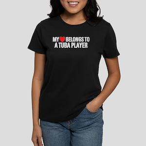 My Heart Tuba Player Women's Dark T-Shirt