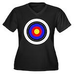 Archery Women's Plus Size V-Neck Dark T-Shirt