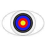 Archery Sticker (Oval 50 pk)
