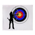 Archery2 Throw Blanket