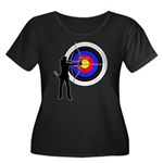 Archery2 Women's Plus Size Scoop Neck Dark T-Shirt