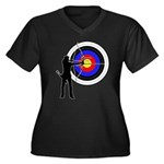 Archery2 Women's Plus Size V-Neck Dark T-Shirt