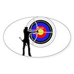 Archery2 Sticker (Oval 10 pk)