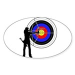 Archery2 Sticker (Oval 50 pk)