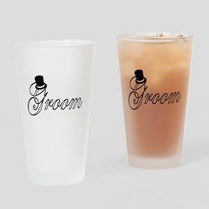 """Groom"" Drinking Glass"