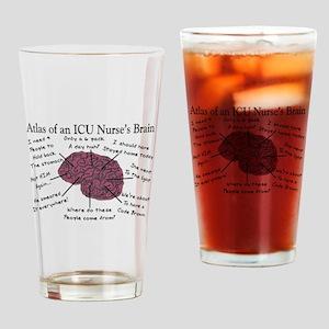 A Nurses's Brain Drinking Glass