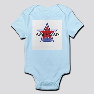 All American Triplets Infant Creeper