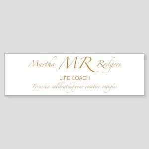 Martha Rodgers Sticker (Bumper)