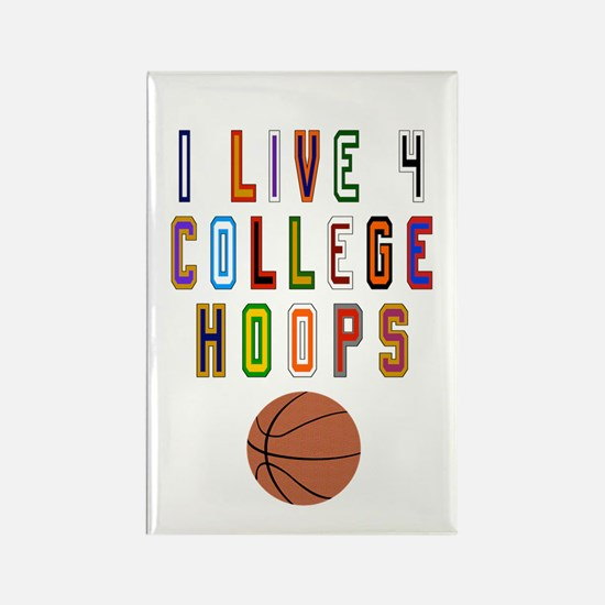 College Basketball Rectangle Magnet