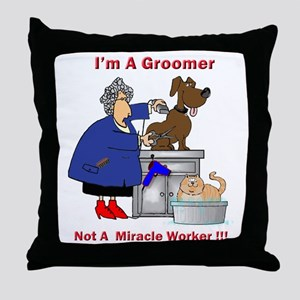 Not a miracle worker Throw Pillow