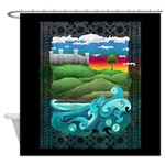 Celtic Castle Tor Shower Curtain
