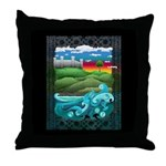 Celtic Castle Tor Throw Pillow