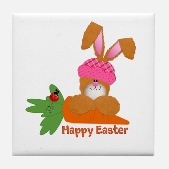 CUSTOMIZABLE: EASTER BUNNY Tile Coaster