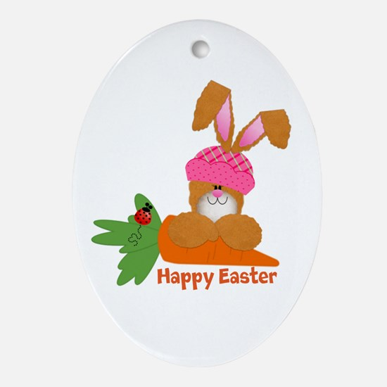 CUSTOMIZABLE: EASTER BUNNY Ornament (Oval)