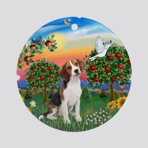 Bright Country-Beagle#1 Ornament (Round)