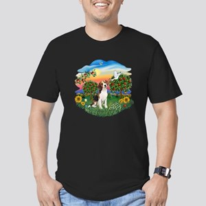 Bright Country-Beagle#1 Men's Fitted T-Shirt (dark