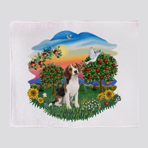 Bright Country-Beagle#1 Throw Blanket